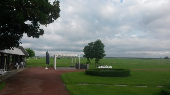 Ouderkerk aan de Amstel, The Netherlands: View from the hotel grounds towards Amsterdam