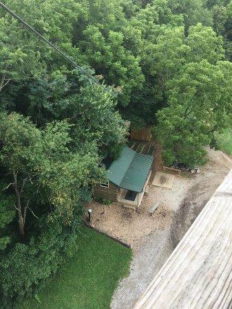 Rockbridge, OH: view from top of super zip
