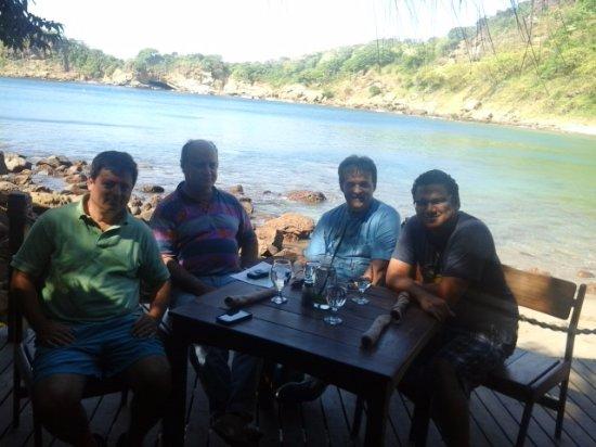 Aqua Wellness Resort: Estabamos en el bar de playa del complejo con compañeros de trabajo.