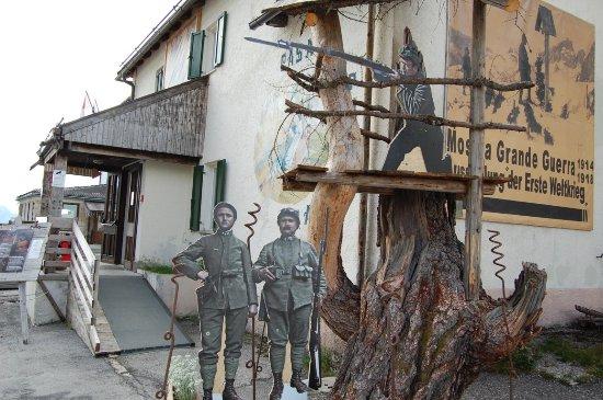 Livinallongo del Col di Lana, Italie : Museo grande guerra Pordoi