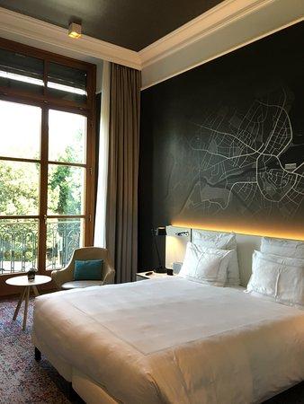Hotel Metropole Geneve: chambre vue lac