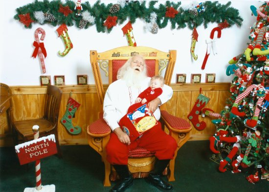 Santa Claus Christmas Store: Santa & Son