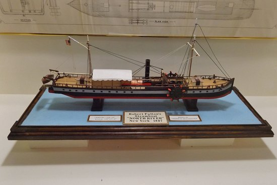 Kingston, NY: A fine model of one of Robert Fulton's steamboats
