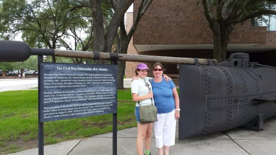 Hunley replica at Charleston Museum
