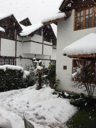 Cabañas Arco Iris: Paisaje soñado con la nevada!