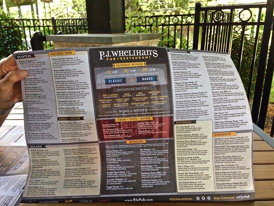 Blue Bell, PA: Food menu at Whelihan's, beer menu is separate.