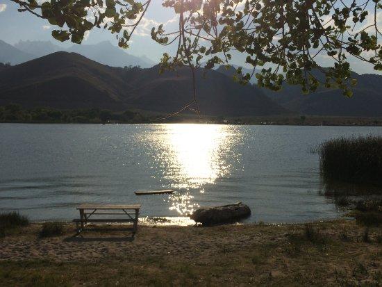 Ranch Motel: Der Lake Diaz weiter hinten im Tal, zur Abkühlung !