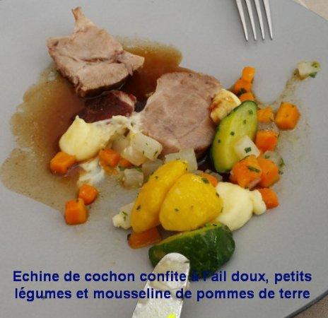 Satigny, Suiza: Cafe-de-Peney-B70727-2-plat-principa-menu-du-marche.(Entamé...)