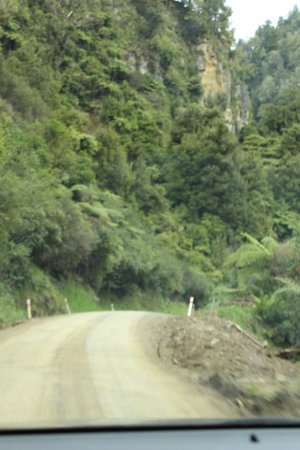 Stratford, New Zealand: gravel road
