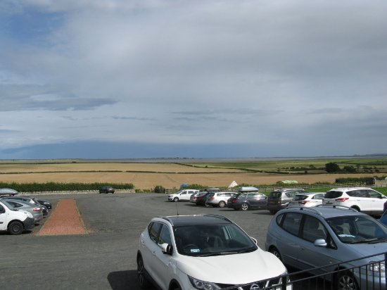 The Barn at Beal: View towards the coast, from the terrace.