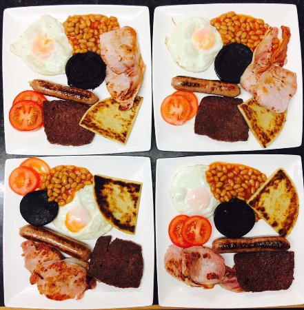 Westbourne Guest House: The full Highlander breakfast. Locally sourced and delicious.