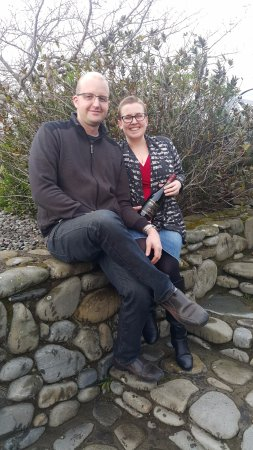 Martinborough, New Zealand: Celebrating Chris's birthday at Murdoch James Estate with a bottle of the McIntyre Port