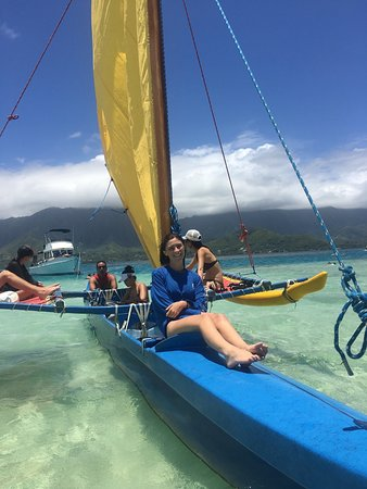 Hawaiian Ocean Adventures: Anchored at Kaneohe Bay sand bar