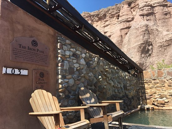 Ojo Caliente, NM: iron pool