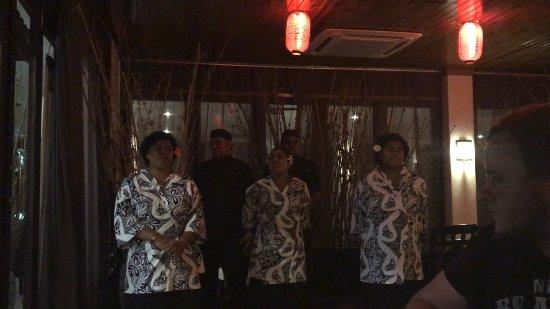 Sazanami Restaurant: Signing us a goodbye song