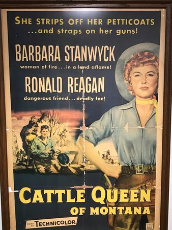 "‪‪Dixon‬, إلينوي: Movie poster of ""Cattle Queen of Montana""‬"