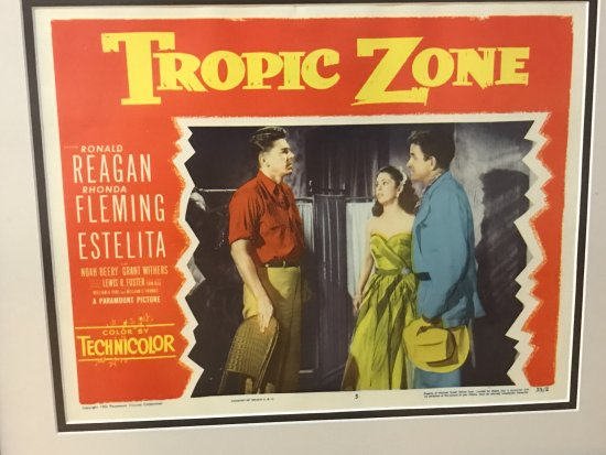 "Dixon, IL: Movie poster of ""Tropic Zone"""