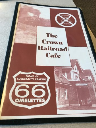 The Crown Railroad Cafe Menu Flagstaff Az