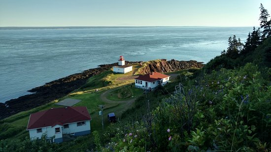 The Lighthouse on Cape d'Or: View from parking lot
