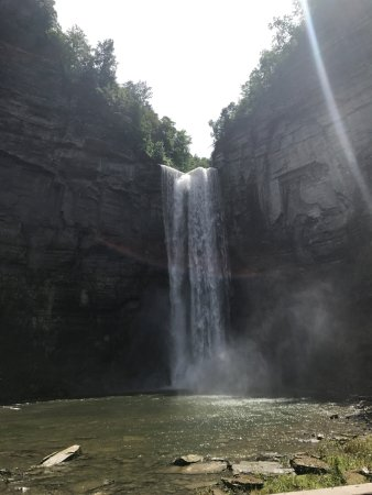 Trumansburg, NY: View of the falls from the trail walk