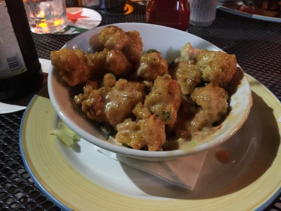 The Green House: Chicken bang bang - Reminded me of a general tso's-ish dish with a creamy spicy sauce.