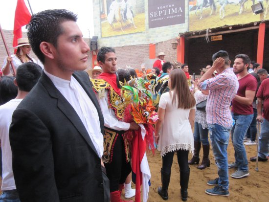 Lima Region, Peru: End of the show where you can take pictures with the performers and the horses.