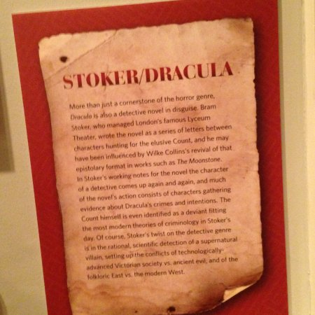 Rosenbach Museum and Library: Discussion about the writing of Dracula
