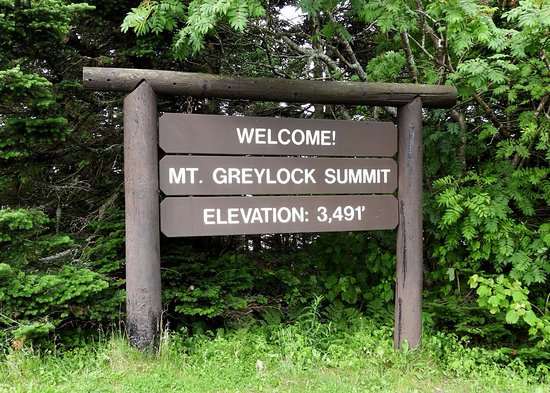 Adams, MA: Summit sign.