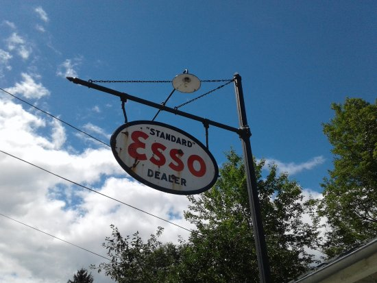 Old ESSO sign outside Mast General Store