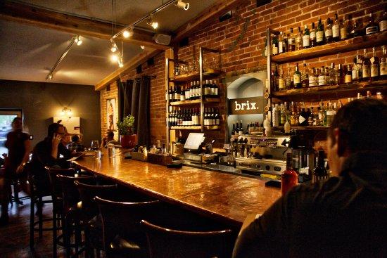 Brix Restaurant and Wine Bar : Interior - bar