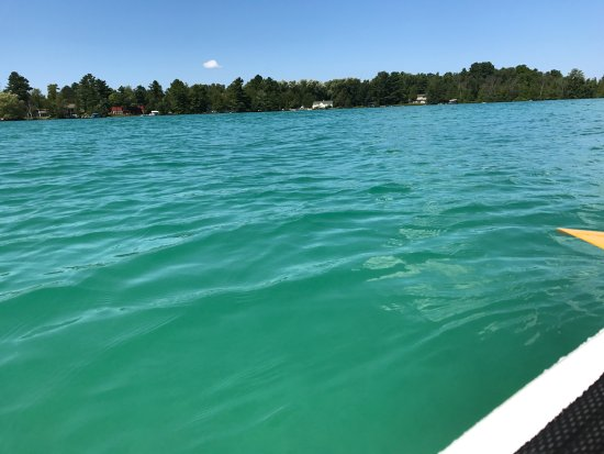 White Birch Lodge: Yes. That is the color of the water on Elk Lake. No filter!