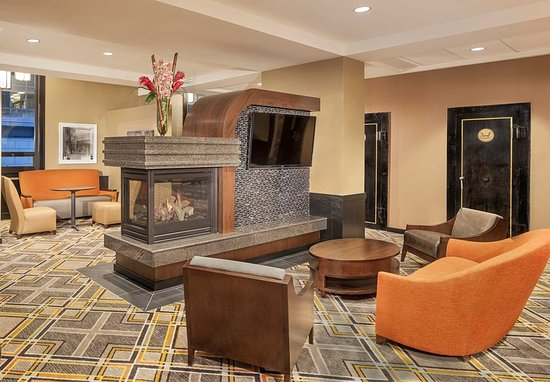 Lobby Fireplace Picture of Residence Inn Omaha DowntownOld