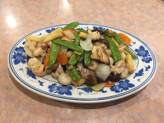 Stardust Restaurant: Prawns w/ Sliced Chicken & Veggies