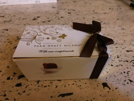 Park Hyatt Milan: Nice sweet part of turn down service