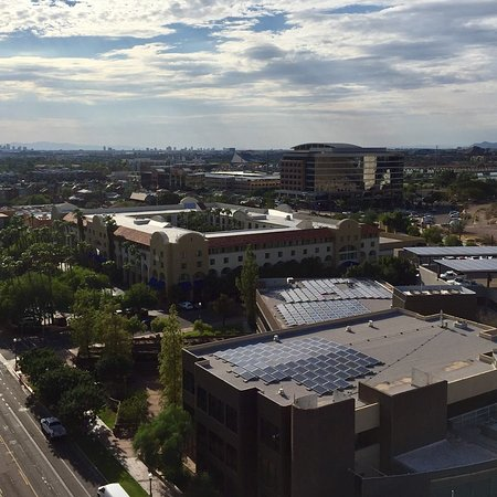 View Of Downtown Tempe From Roof Top Pool & Lounge Area
