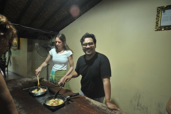 ONEWORLD retreats Kumara: Me during cooking class.