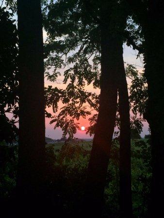 Les Esseintes, França: Sunset from our garden
