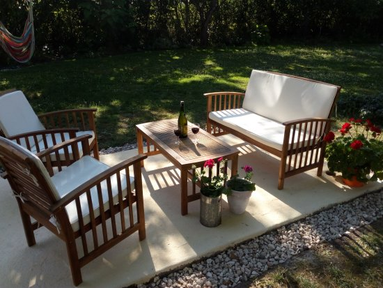 Out door seating area picture of le fagnard chambre d for Chambre d hote le