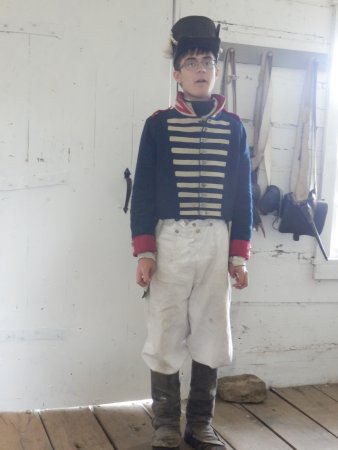 Old Fort Madison: Volunteer Tim standing At Attention