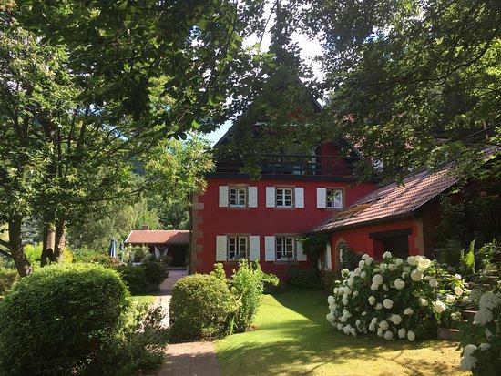 La Haute Grange and its very well kept garden