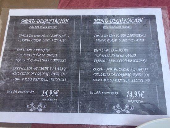 Bar Taperia Los Zamoranos: menú de degustación