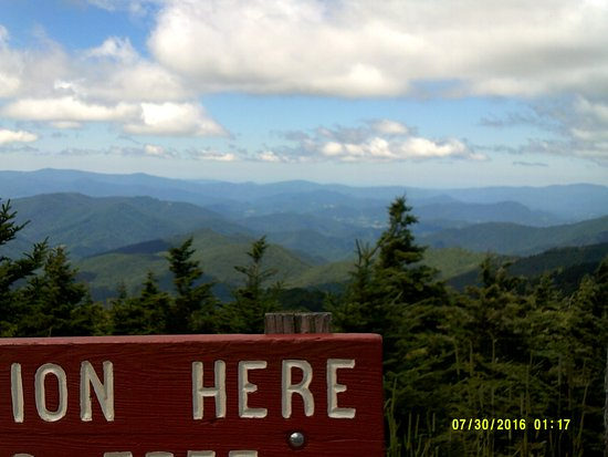 Burnsville, NC: View from Mt. Mitchell