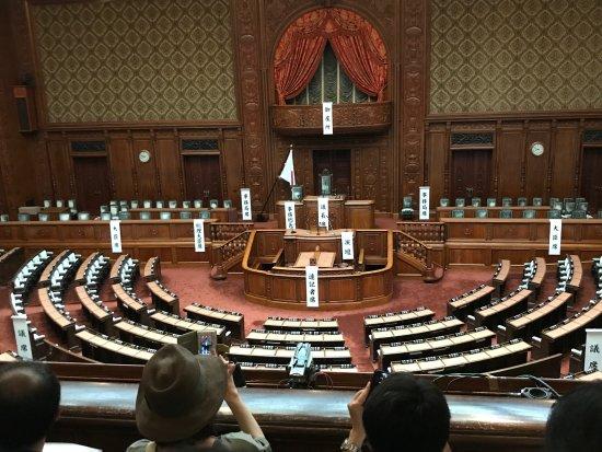 国会議事堂, テレビで見る衆議院とは少しイメージが違う
