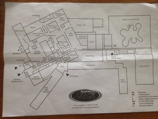Preston Palace Almelo: Plattegrond
