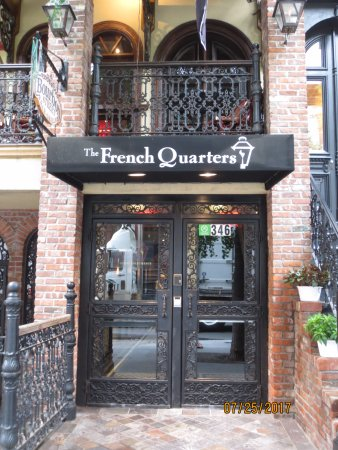The French Quarters Guest Apartments: Entrance.