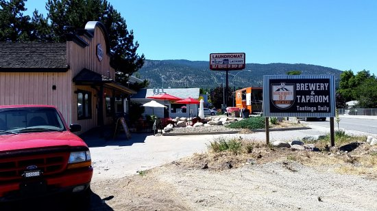 Highway 97 Brewery: Meat truck on the right! Key location off the main drag.