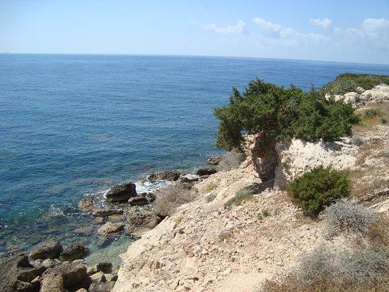 Maa-Palaeokastro Settlement: Обрывистый берег мыса -естественная защита с моря