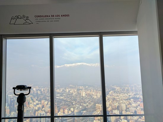 Santiago Metropolitan Region, Chile: View from the top floor of the Sky Costanera, tallest building in South America
