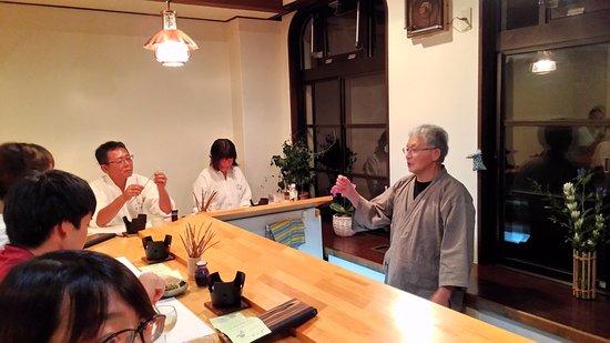 Yuyado Iwafuji: The Chef was explaining