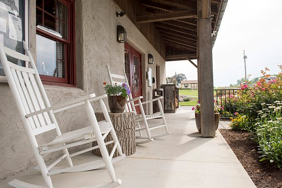 Gordonville, PA: Relax on the porch at our office